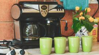 brewing coffee, coffee machine built in